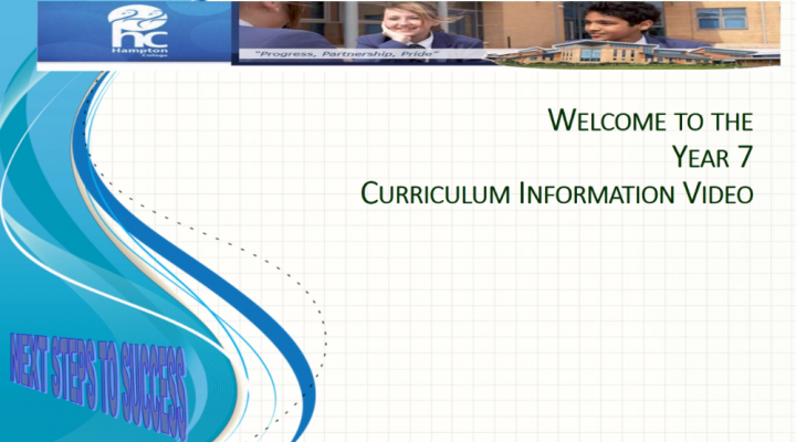 Year 7 Curriculum Evening - October 2020
